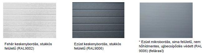 ipari kapu panel színek