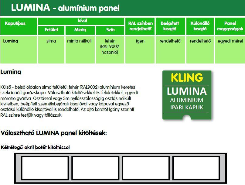 ipari kapu alumínium