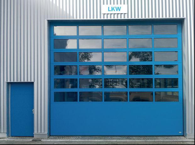 panoráma szekció ipari kapunál